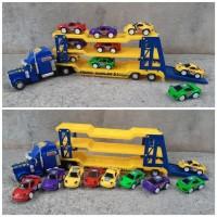 Mainan Set Truck Hauler Angkut - Trailer Muatan Mobil Anak Edukatif