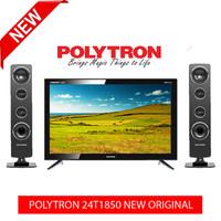 POLYTRON 24T1850 LED TV CINEMAX 24 INCH + SPEAKER TOWER