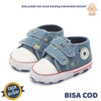TokoDedee-Sepatu Bayi Sneakers Denim / Sepatu PrewalkerTDS493