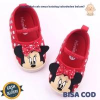 TokoDedee-Sepatu Bayi Perempuan Minie Mouse Alas Lembut AntiSlipTDS468