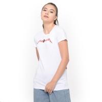 MOSIRU T-shirt Kaos Cewe Spandek Premium Wanita Putih