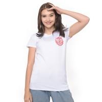 MOSIRU T-shirt Kaos Cewe Spandek Premium Baju Wanita Putih