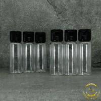Botol fliptop 20ml natural/botol 20ml/botol plastik 20ml/tutup hitam