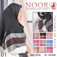 Hijab jilbab segi empat syari (jumbo) noor syar'i by umama