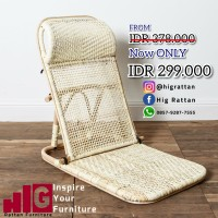 BEACH CHAIR | Folding Rattan | Kursi Lipat Rotan