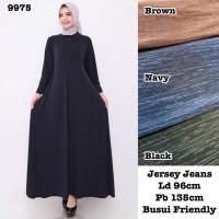 Baju Gamis Wanita Terbaru Gamis Remaja Gamis Jersey Motif Jeans 9975