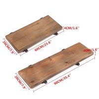HJR Set Rak Dinding Floating Shelf Gaya Industrial Rustic