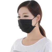 Masker kasa hitam anti debu polusi 3 ply tebal pm 2.5