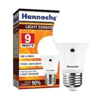 Light Sensor LED Bulb / Hannochs Lampu Sensor Cahaya 9W