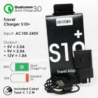 Travel Charger Samsung S10+/S10 Original OEM 100% + Quick Charge 3.0