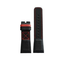 Tali / strap jam tangan SEVENFRIDAY V3/03 bahan kulit warna hitam