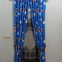 gorden doraemon bahan blackout pintu dan jendela