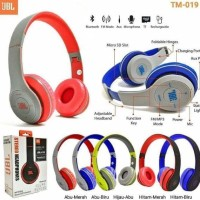 Headset BLUETOOTH + Kabel AUX Micro SD JBL TM-019 Headphone Bando