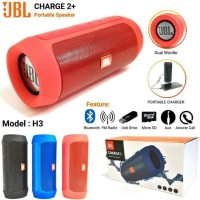 Speaker BLUETOOTH + Powerbank H3 Charge 2+ CH2+Kualitas JBL Praktis