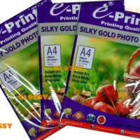 HOT SALE EPRINT Silky Gold Photo Paper 260 gsm / KERTAS FOTO SILKY