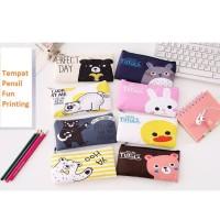 TP0056 Tempat Pensil Fun Printing 8 Design Pencil Case