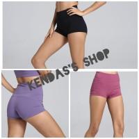 Hotpants Sport Highwaist Celana Pendek Senam Gym Olahraga Wanita