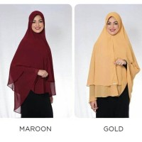 Hijab Ezra Khimar Ceruty Model Pet HPAI HNI