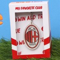 Gantungan Kunci Sepak Bola Logo AC Milan