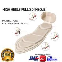 high heels full 3d insole insol sepatu hak foam shoe pad alas kaki