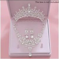Perhiasan Mahkota Kalung Pengantin Modern -Aksesoris Wedding -02