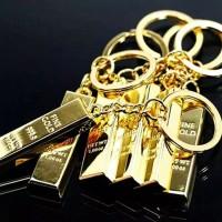 Gantungan kunci Emas batangan imitasi/Gantungan kunci bentuk Emas