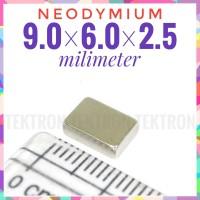 Magnet Neodymium 9x6x2.5mm Super Strong kotak 9x6 kuat prakarya