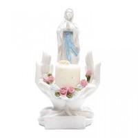 Tempat Lilin Patung Bunda Maria Tangan Melindungi + Lilin