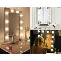 vanity mirror lights 10 lampu makeup rias bisa warna putih dan kuning