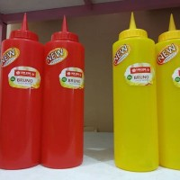 Botol Kecap Mayonaise Sambal Plastik Bruno lIon Star 550 ml