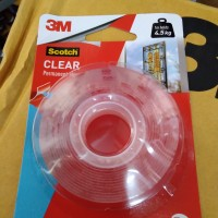 Double Tape 3M Scotch Original USA Clear Mounting Tape 4010C - CLEAR