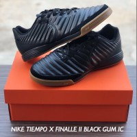 SEPATU FUTSAL NIKE TIEMPO X FINALLE II BLACK GUM IC