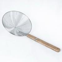 Saringan Parabola 30 cm serok serokan gagang kayu gorengan kerupuk