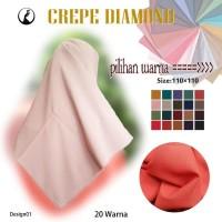 Jilbab Segi Empat Crepe Diamond By Azara