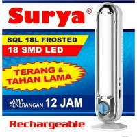 Surya SQL 18L Frosted Lampu Led Emergency Darurat Rechargeable