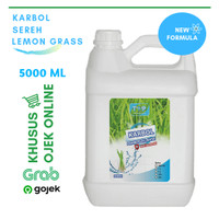 KHUSUS GOSEND/GRAB KARBOL SEREH LEMON GRASS JERIGEN 5 LITER