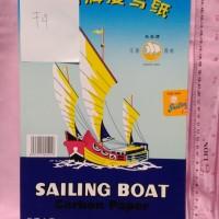 Kertas Karbon Carbon Paper Sailing Boat Hitam Biru READY STOCK