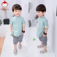Chinese New Year Kids Baby boy Kostum anak-anak tahun baru cheongsam 2