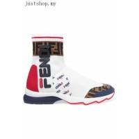Jual Fendi Sepatu Sneakers Sport Warna Hitam / Putih Lari Berkualitas