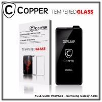 Samsung A50s - COPPER Tempered Glass PRIVACY/ANTI SPY(Full Glue)