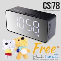 Speaker Bluetooth Jam Alarm Radio FM TF Card Mirror Comson CS 78