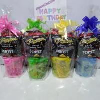 Paket souvenir ulang tahun toples odet lock dan snack