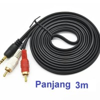 Kabel RCA 3m 1-2 Jack 3.5mm utk speker - Audio aux Cable for speaker