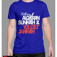 Kaos Dakwah Lengan Pendek Follow Sunnah