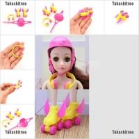 3Pcs/Set Doll Sports Accessories Shoes Helmet Headset Color Random
