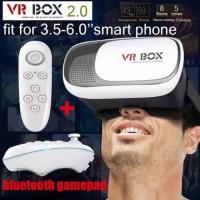 Virtual 3D Reality Glasses VR Box + Remote VR Gear Box Generasi 2