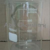 Beaker Glass - Gelas Kimia - Gelas Piala -1000 ml tools n parts