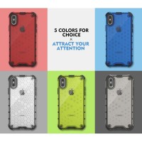 iPhone X - Xs Honeycomb Hybrid Rugged Clear Armor Case Shockproof