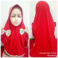 Jilbab Anak Kaos Super Harian Pita Belah Pelangi
