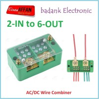 AC/DC Wire Combiner (2-IN to 6-OUT) Junction Box Solar Panel Surya